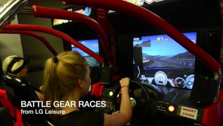 Battle Gear Races video simulator game from LG Leisure