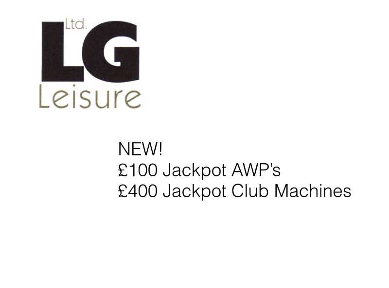 New £100 jackpot awps £400 jackpot club machines from lg leisure