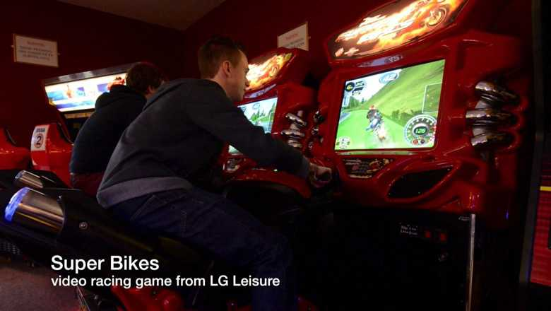 Super bikes video racing game from LG Leisure